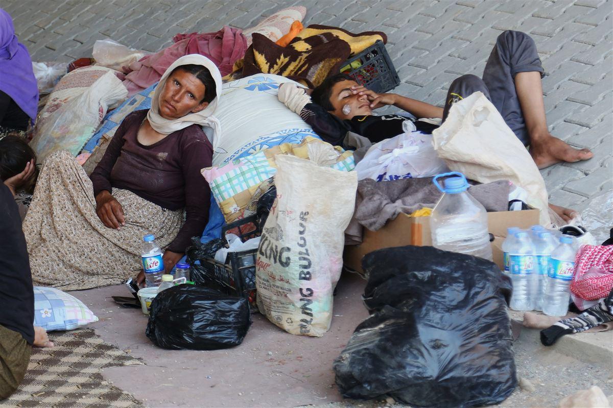 Militante islamister fra IS har drevet store grupper yazidier på flugt fra deres hjem i Irak.