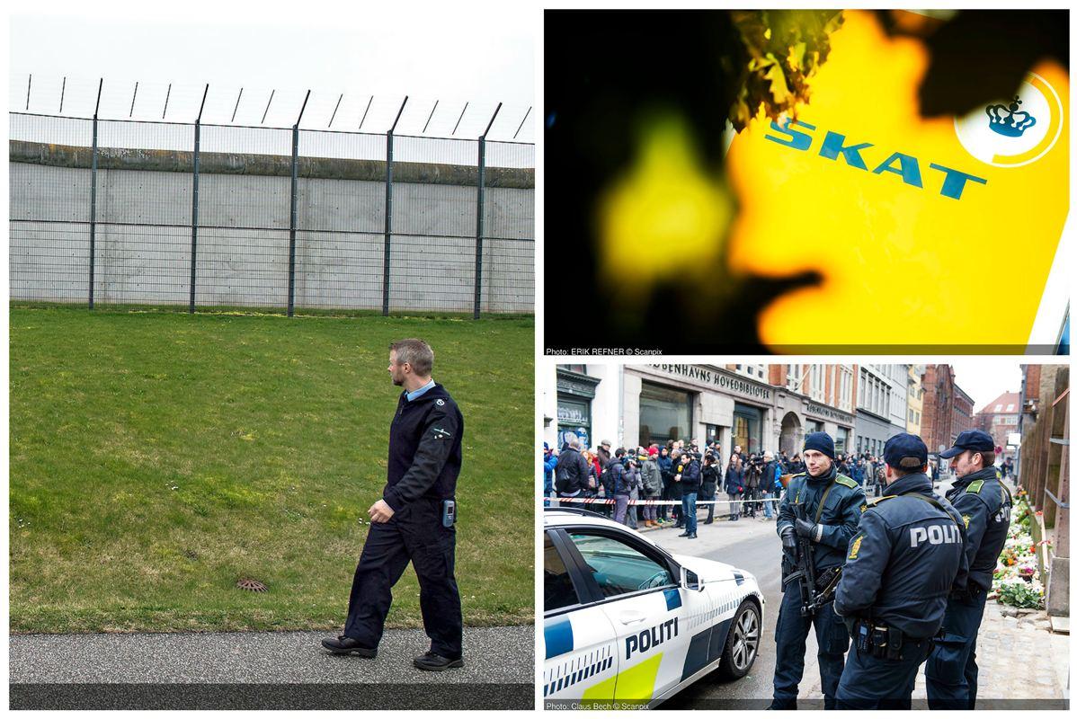 Fængselsbetjente, politibetjente og medarbejdere i Skat er blandt de statsansatte med største sygefravær.