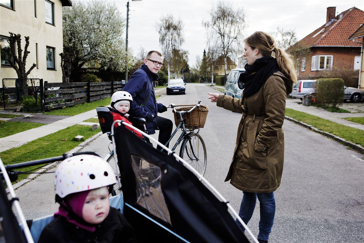 Det er et større puslespil, der skal lægges, for at børnefamilier kan få en hverdag med arbejde og familieliv til at gå op. Arkivfoto af Familien Kold fra København.