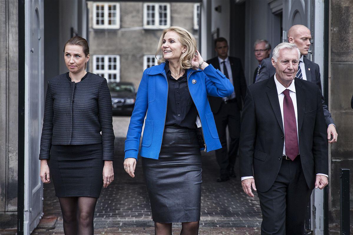Statsminister Helle Thorning-Schmidt (S) var hos Dronningen for at præsentere sin nye justitsminister, Mette Frederiksen (S), og sin nye beskæftigelsesminister, Henrik Dam Kristensen (S).