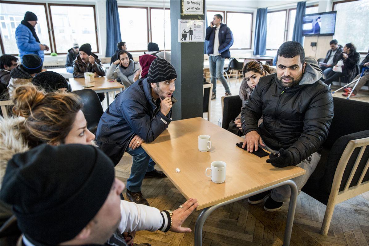 Flygtninge i flygtningecenteret i Auderød. 21.192 søgte asyl i Danmark i 2015.