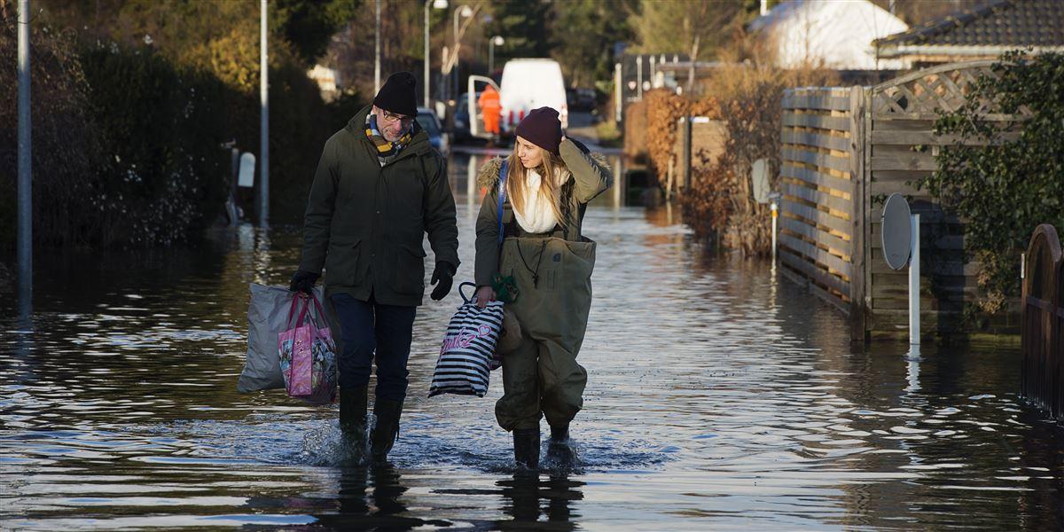 Orkanen Bodil ramte landet i 2013, og gjorde mange familier i Jyllinge husvilde på grund af stormflod. Kystsikring og kommunernes klimaindsats kommer højt på vælgernes dagsorden ved dette års kommunalvalg.