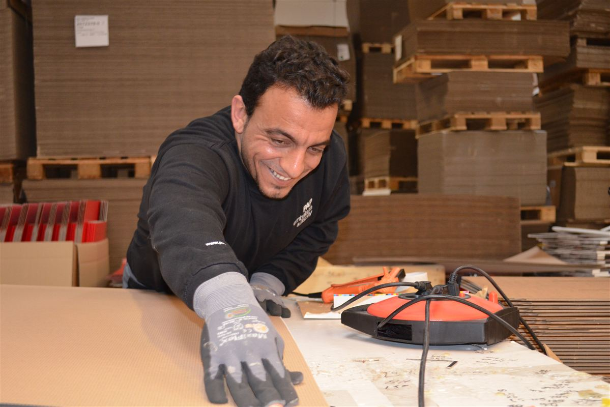 Ali Ahmad Alzoo er takket være Vejle-modellen godt i gang med at få foden inden for på arbejdsmarkedet.